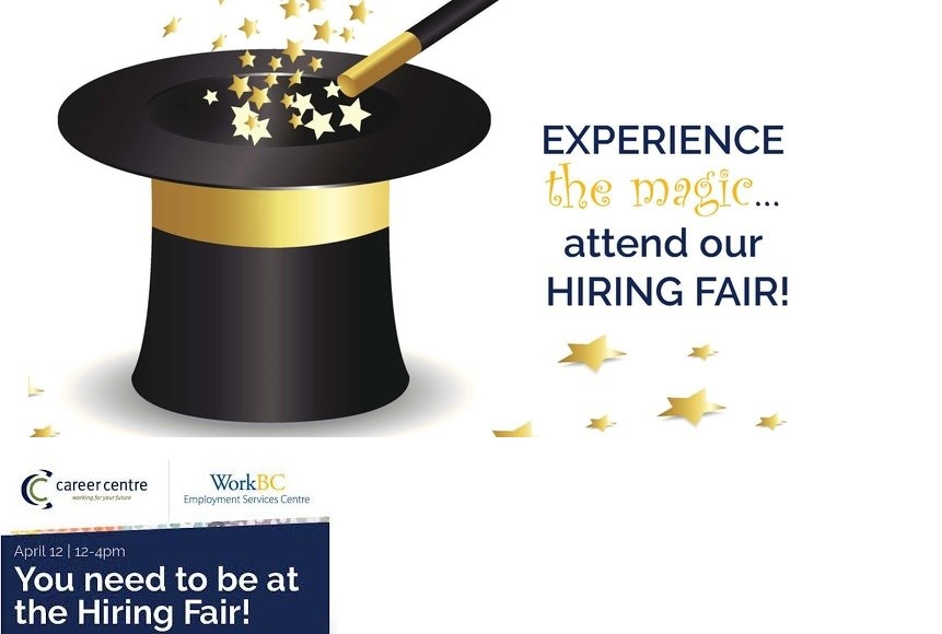 HIRING FAIR - April 12th Parksville Community & Conference Centre