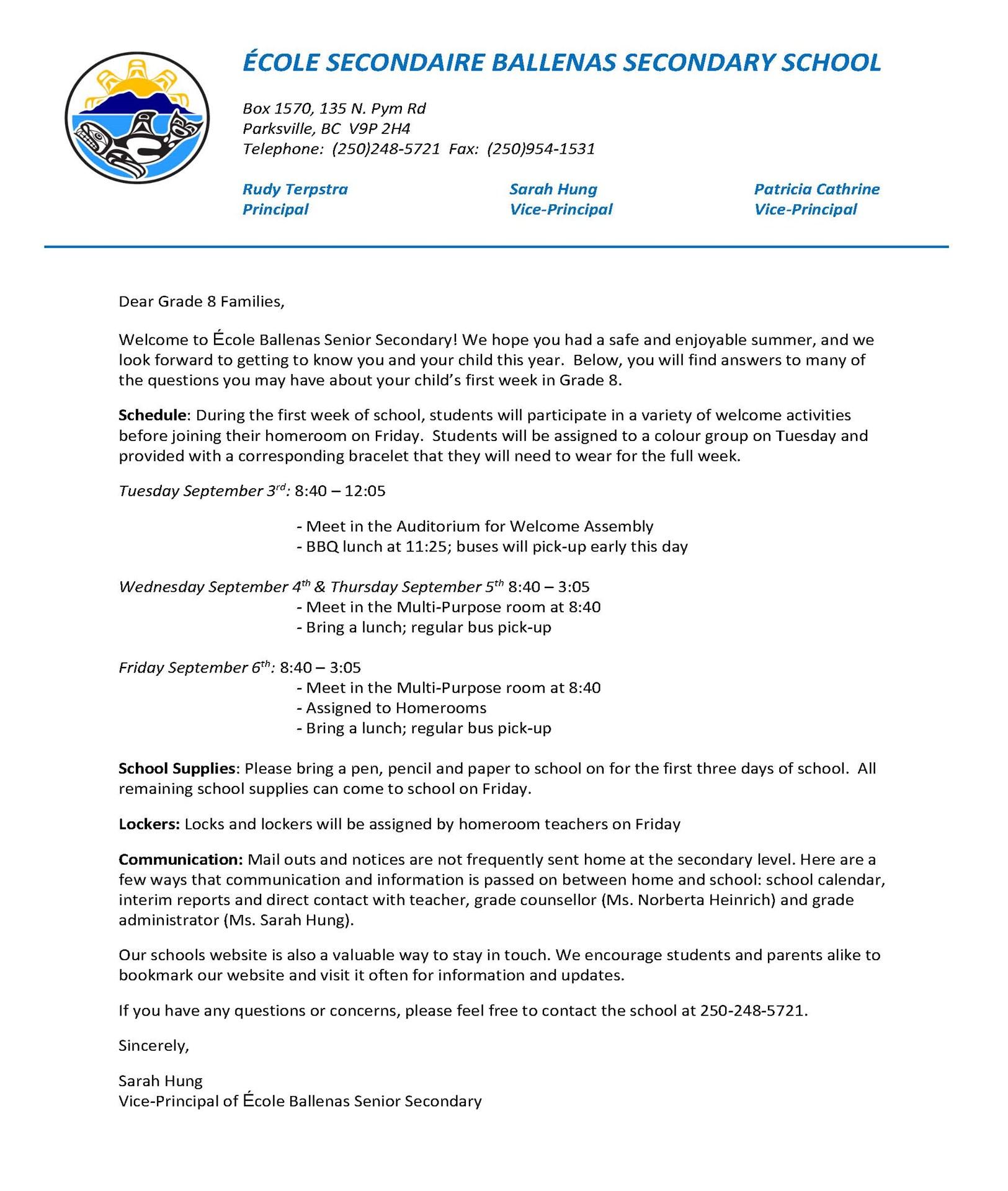 Grade 8 Welcome Letter.jpg