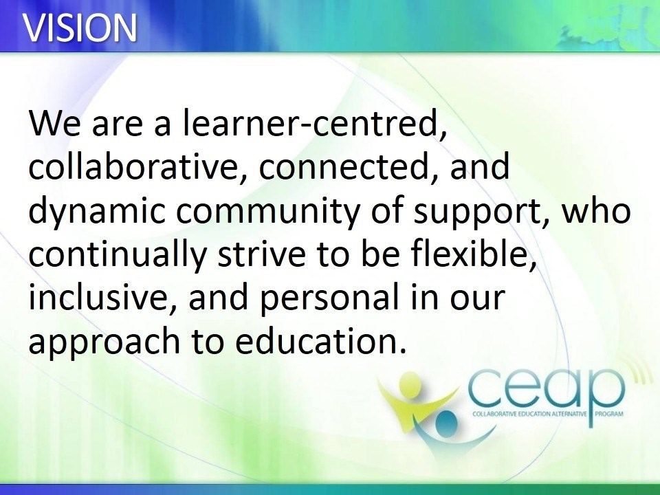 CEAP'S VISION STATEMENT